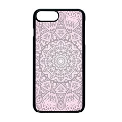 Pink Mandala art  Apple iPhone 7 Plus Seamless Case (Black)