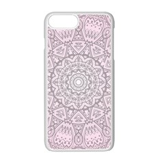 Pink Mandala art  Apple iPhone 7 Plus White Seamless Case