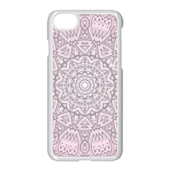 Pink Mandala art  Apple iPhone 7 Seamless Case (White)