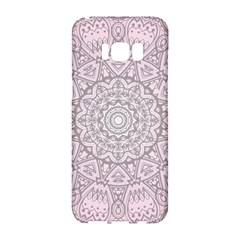Pink Mandala Art  Samsung Galaxy S8 Hardshell Case  by paulaoliveiradesign