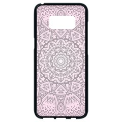 Pink Mandala art  Samsung Galaxy S8 Black Seamless Case