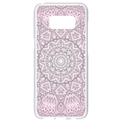 Pink Mandala art  Samsung Galaxy S8 White Seamless Case