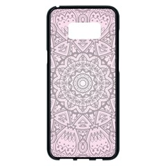 Pink Mandala Art  Samsung Galaxy S8 Plus Black Seamless Case by paulaoliveiradesign
