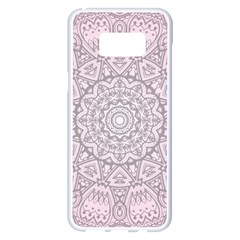 Pink Mandala Art  Samsung Galaxy S8 Plus White Seamless Case by paulaoliveiradesign