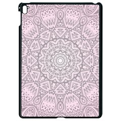 Pink Mandala art  Apple iPad Pro 9.7   Black Seamless Case