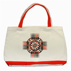 Geometric Celtic Cross Classic Tote Bag (red) by linceazul