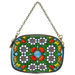 Cute Floral Mandala  Chain Purses (two Sides)  by paulaoliveiradesign