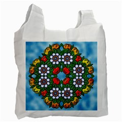 Cute Floral Mandala  Recycle Bag (two Side)