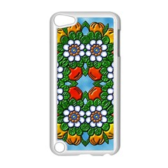 Cute Floral Mandala  Apple Ipod Touch 5 Case (white) by paulaoliveiradesign