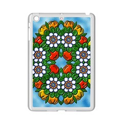 Cute Floral Mandala  Ipad Mini 2 Enamel Coated Cases