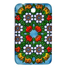 Cute Floral Mandala  Samsung Galaxy Tab 3 (7 ) P3200 Hardshell Case  by paulaoliveiradesign