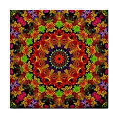 Fractal Mandala Abstract Pattern Tile Coasters by paulaoliveiradesign