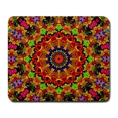 Fractal Mandala Abstract Pattern Large Mousepads by paulaoliveiradesign