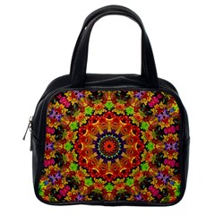 Fractal Mandala Abstract Pattern Classic Handbags (one Side) by paulaoliveiradesign