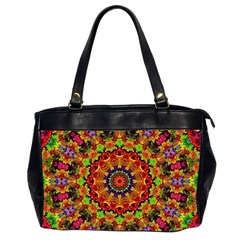 Fractal Mandala Abstract Pattern Office Handbags (2 Sides)  by paulaoliveiradesign