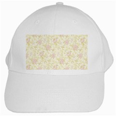 Floral Paper Pink Girly Pattern White Cap by paulaoliveiradesign
