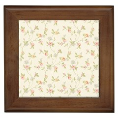 Floral Paper Pink Girly Cute Pattern  Framed Tiles by paulaoliveiradesign