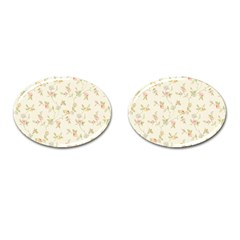 Floral Paper Pink Girly Cute Pattern  Cufflinks (oval)