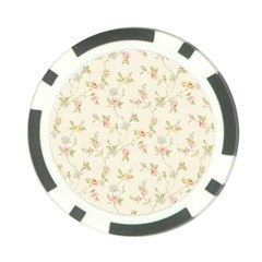 Floral Paper Pink Girly Cute Pattern  Poker Chip Card Guard by paulaoliveiradesign