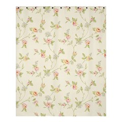Floral Paper Pink Girly Cute Pattern  Shower Curtain 60  X 72  (medium)  by paulaoliveiradesign