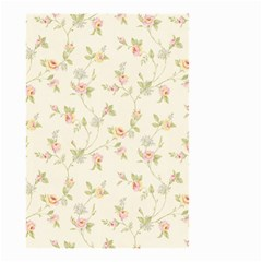 Floral Paper Pink Girly Cute Pattern  Small Garden Flag (two Sides) by paulaoliveiradesign