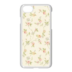 Floral Paper Pink Girly Cute Pattern  Apple Iphone 7 Seamless Case (white) by paulaoliveiradesign