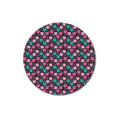 Cute Cats Iv Magnet 3  (round) by tarastyle