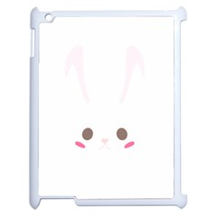 Rabbit Cute Animal White Apple Ipad 2 Case (white) by Nexatart