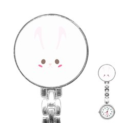 Rabbit Cute Animal White Stainless Steel Nurses Watch