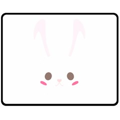 Rabbit Cute Animal White Double Sided Fleece Blanket (medium)  by Nexatart