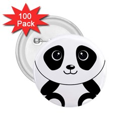 Bear Panda Bear Panda Animals 2 25  Buttons (100 Pack)  by Nexatart