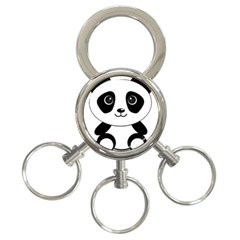 Bear Panda Bear Panda Animals 3 Ring Key Chains by Nexatart