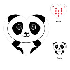Bear Panda Bear Panda Animals Playing Cards (heart)