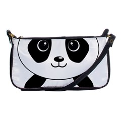 Bear Panda Bear Panda Animals Shoulder Clutch Bags by Nexatart