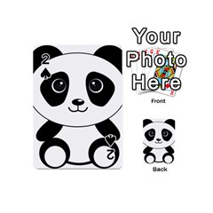 Bear Panda Bear Panda Animals Playing Cards 54 (mini)  by Nexatart