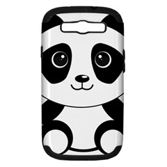 Bear Panda Bear Panda Animals Samsung Galaxy S Iii Hardshell Case (pc+silicone) by Nexatart