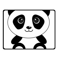 Bear Panda Bear Panda Animals Double Sided Fleece Blanket (small)  by Nexatart