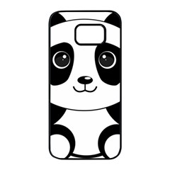 Bear Panda Bear Panda Animals Samsung Galaxy S7 Edge Black Seamless Case by Nexatart