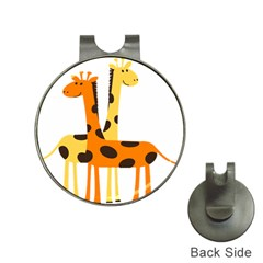Giraffe Africa Safari Wildlife Hat Clips With Golf Markers by Nexatart