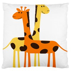Giraffe Africa Safari Wildlife Large Cushion Case (one Side) by Nexatart