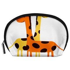 Giraffe Africa Safari Wildlife Accessory Pouches (large)  by Nexatart