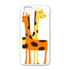 Giraffe Africa Safari Wildlife Apple Iphone 6/6s White Enamel Case