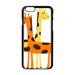 Giraffe Africa Safari Wildlife Apple Iphone 6/6s Black Enamel Case by Nexatart