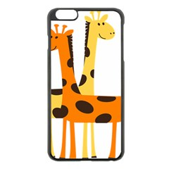 Giraffe Africa Safari Wildlife Apple Iphone 6 Plus/6s Plus Black Enamel Case