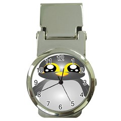 Cute Penguin Animal Money Clip Watches