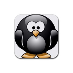 Penguin Birds Aquatic Flightless Rubber Coaster (square)