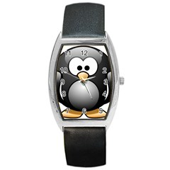 Penguin Birds Aquatic Flightless Barrel Style Metal Watch by Nexatart