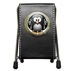 Penguin Birds Aquatic Flightless Pen Holder Desk Clocks