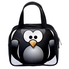 Penguin Birds Aquatic Flightless Classic Handbags (2 Sides)