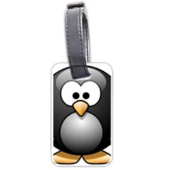 Penguin Birds Aquatic Flightless Luggage Tags (two Sides) by Nexatart